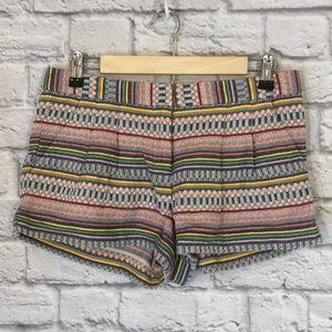 Twelfth Street | Woven Boho Striped Shorts